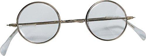 Rubie's Adult Novelty Round Santa Glasses, Metallic, One Size -