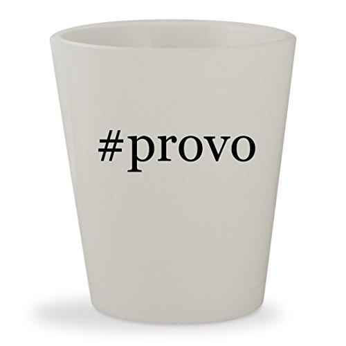 #provo - White Hashtag Ceramic 1.5oz Shot - Provo Sunglasses