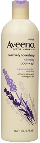 AVEENO Active Naturals Calming Body Wash,Lavender, Chamomile Ylang Ylang 16 oz Pack of 3