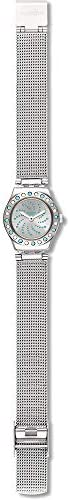 Swatch Women's Quartz Watch with Stainless Steel Strap, Grey, 18 (Model: YSS320M)