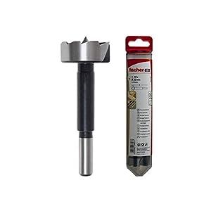 Fischer 551338 Trapano Forstner D-WFo 30 mm, elicoidale dentata con Punta di centraggio,Ideale per Fori Profondi teneri…