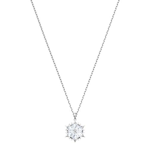 Swarovski Women's Magic Snowflake Rhodium Finish Necklace, Earrings, Set, Clear Crystal Jewelry Collection