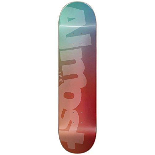 フィヨルド代理人連隊ALMOST/オールモスト SIDE PIPE BLURRY TEAL/CARDINAL 8.25 DECK SK8 スケートボード/スケボーデッキ