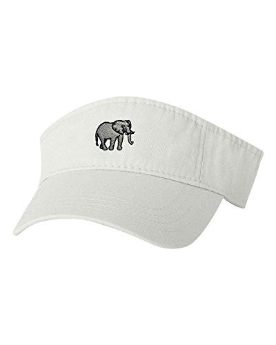 Go All Out Adjustable White Adult Elephant Embroidered Visor Dad - Visor Embroidered Tiger