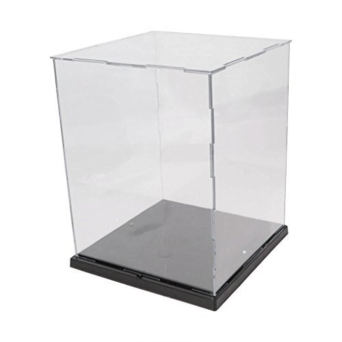 EKIND Acrylic Model Toy Display Case PVC Base