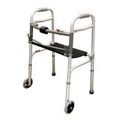 Folding Walker / Rollator with Seat and 5'' Wheels by Roscoe Medical (Image #1)