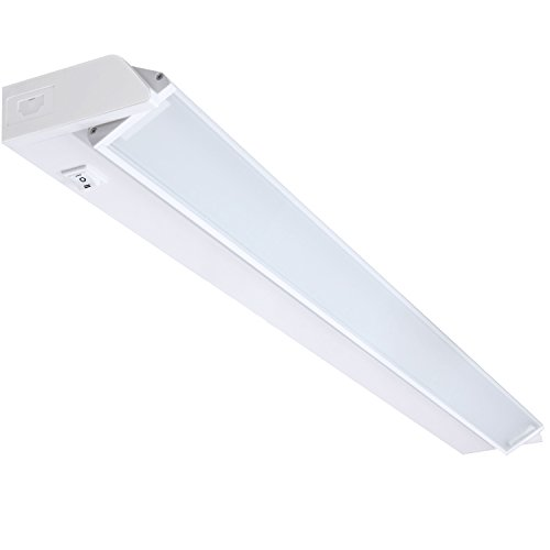 GetInLight Swivel and Dimmable LED Under Cabinet Light with ETL Listed, Warm White 2700K , White Finished, 40-inch, IN-0207-5