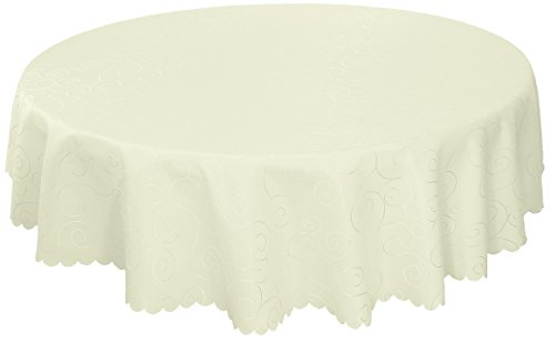 - EcoSol Designs Microfiber Damask Tablecloth, Wrinkle-Free & Stain Resistant (70