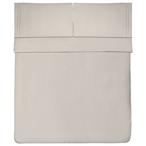 Sweet Home Collection 1800 Thread Count Bed Sheet Set Egyptian Quality Brushed Microfiber 5 Piece Deep Pocket, Split King, Beige by Sweet Home Collection (Image #2)