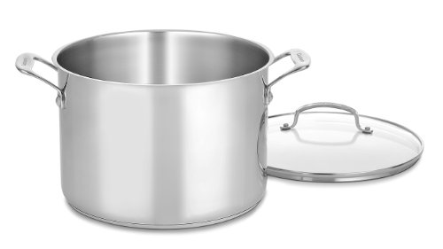 Cuisinart 76610-26G Chef's Classic 10-Quart Stockpot with Glass Cover ()