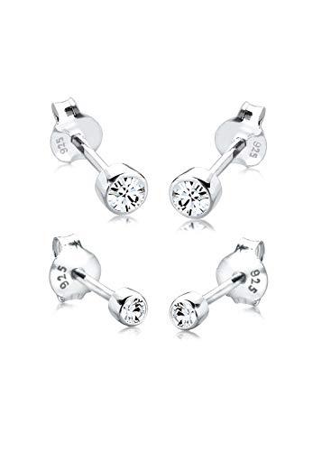Elli-Pendientes-para-damas-set-basico-con-cristales-Swarovski-en-plata-esterlina-de-ley-925