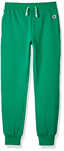 Kid Nation Kids' Soft Brushed Fleece Casual Pull-On Jogger Sweatpant with Pockets for Boys or Girls XL Green 01 (Green Sweatpants Kids)