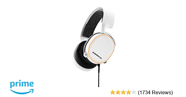 SteelSeries Arctis 5 (2019 Edition) RGB Illuminated Gaming Headset with DTS  Headphone:X v2 0 Surround for PC and PlayStation 4 - White