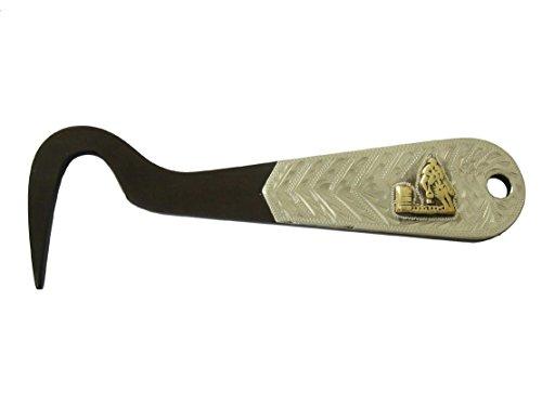 AJ Tack Horse Hoof Pick Brown Steel Silver Engraving Stable Grooming Care Barrel Racing