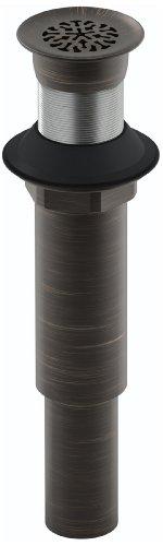Kohler K-7108-2BZ Decorative Grid Drain Less Overflow, Oil Rubbed Bronze