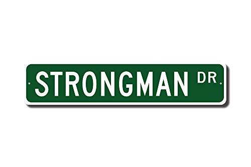 (Iliogine Strongman Sign Strongman Fan Strongman Participant Strongman Gift Strength Athletics Street Sign Metal Signs Women Novelty Tin Sign Indoor Outdoor)