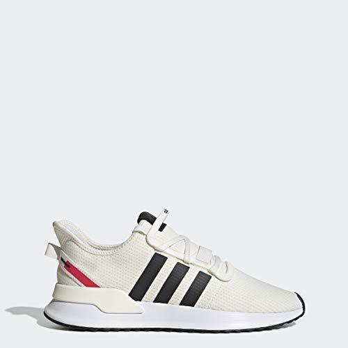 adidas Originals Men's U_Path Running Shoe, Off Off White/Black/shock Red, 9 M US