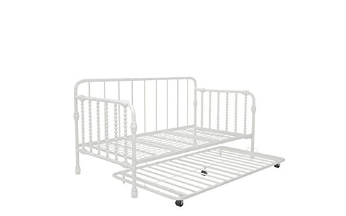 Little Seeds Monarch Hill Wren Metal Daybed with Trundle, Twin Size, White
