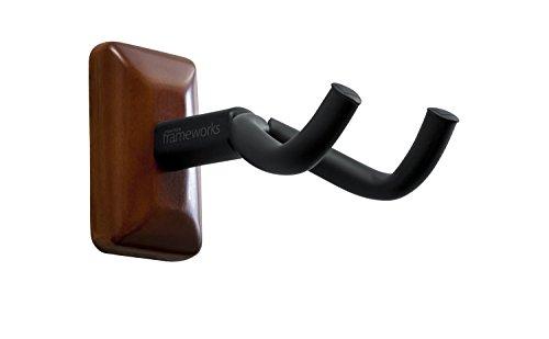 Gator Cases GFW-GTR-HNGRMHG Frameworks Wall Mounted Guitar Hanger with Mahogany Mounting (Gtr Hanger)