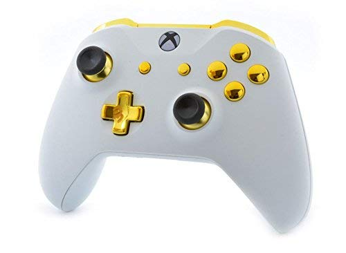 White/Gold Smart Rapid Fire Custom Modded Controller for Xbox One S Mods FPS Games and More. Control and Simply Adjust… 2