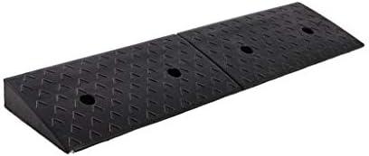 屋内/屋外 多機能上り坂パッド、サービススロープブラックヘビーカーブのスロープアウトドア車椅子スロープ高さ:7月8日/ 9 / 10CM 車庫アクセサリ (Color : Black, Size : 98*25*8CM)