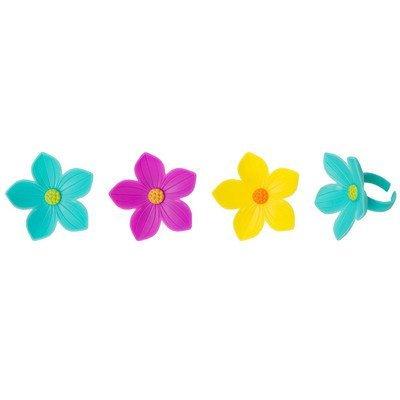 Cupcake Decorating Rings - Baker - Spring Flower Cupcake Rings (24 Count)
