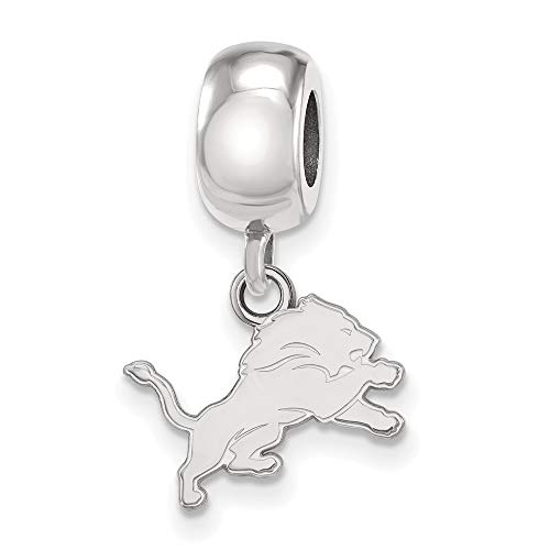 NFL Sterling Silver Detroit Lions Bead Charm XS Dangle