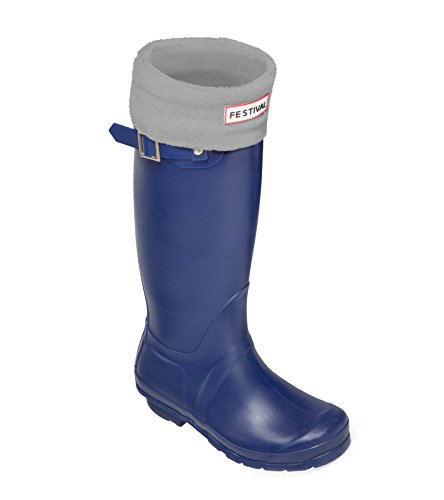 Tall Grey Warm Boots Navy Rain Ladies Winter UK Sizes 9 Wellington Original Wellies 3 x4w56p