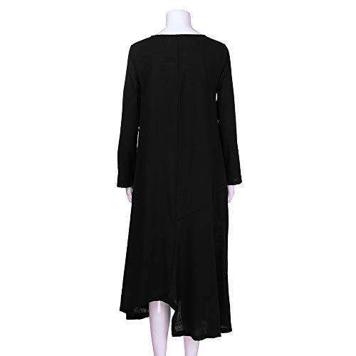 Robe 2018 Grande Boheme De Cocktail Coton De Mode Robe Femme Casual Longue Manche Multicolore1 Soiree Longue B Chic Taille Robe LaChe 3XL Ete q4tXUTxSHw