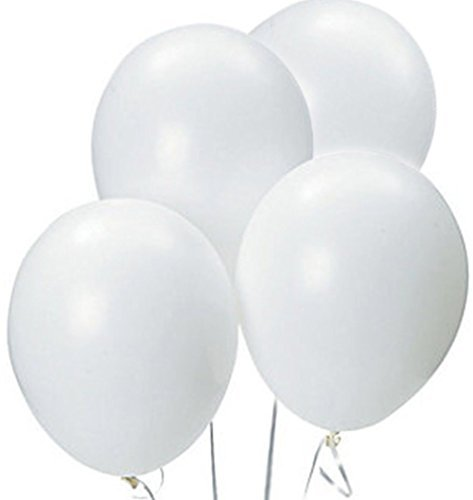 Custom, Fun & Cool {Big Large Size 12'' Inch} 1500 Bulk Pack of Helium & Air Latex Rubber Balloons w/ Modern Simple Celebration Party Special Event Decor Design [In Bright White] by mySimple Products