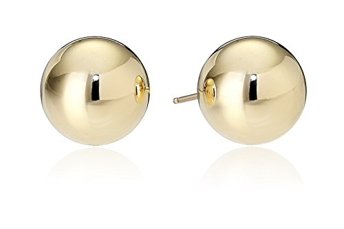 Gold Womens Earring (14k Yellow Gold 8mm Ball Stud Earrings)