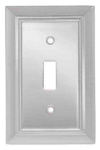 - Liberty Hardware 126301 Architectural Single Switch Wall Plate, Polished Chrome