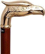 Eagle Walking Cane - Brass Eagle Handle Walking Cane with Brown Beechwood Shaft