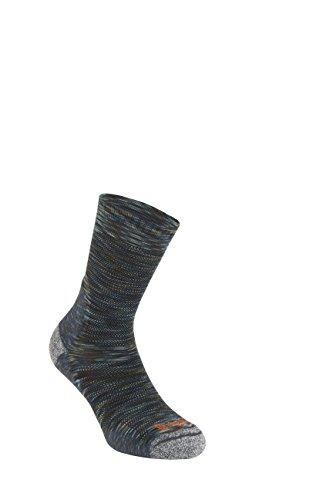 Bridgedale Men's Ultra Light Crew Merino Endurance Socks, Medium, Multi Green