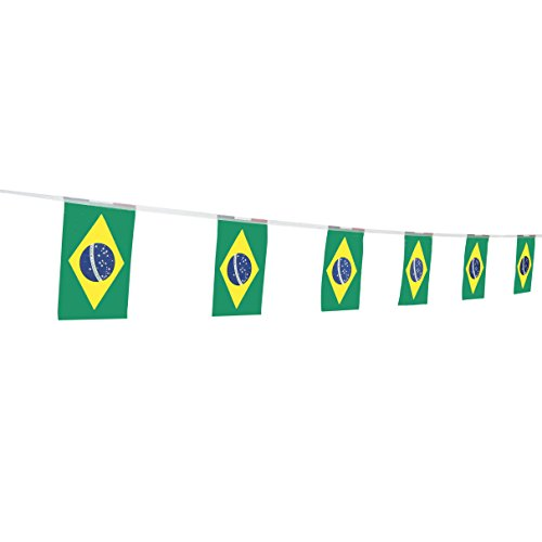 TSMD Brazil Flag, 100 Feet Brazilian Flag National Country World Flags Banner,Party Decorations for Olympics,World Cup,Bar,School Sports Event,International Festival Celebration (8.2
