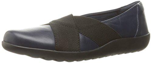 CLARKS Women's Medora Jem Slip-On Loafer Navy Leather
