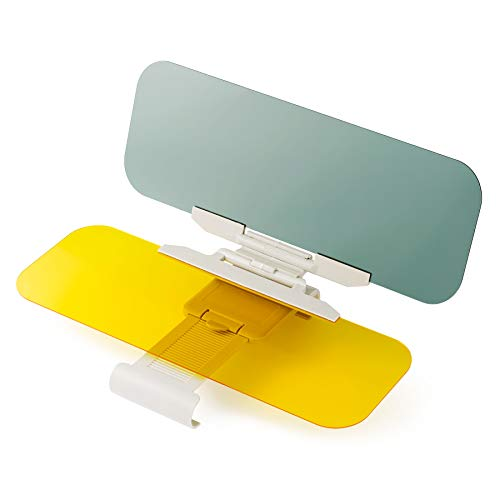 Car Sun Visor Day Night, 2 in 1 Automobile Sun Visor Universal Windshield Driving Visor, Anti-Glare Car Visor Extender
