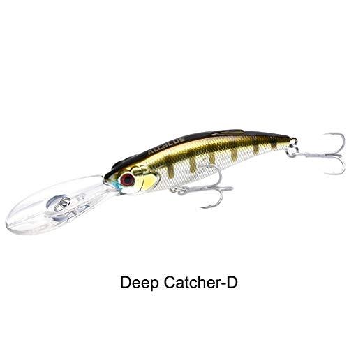 Nafanio Minnow Fishing Lure Deep Catcher 75F 12g 75mm 3D Artificial Bait