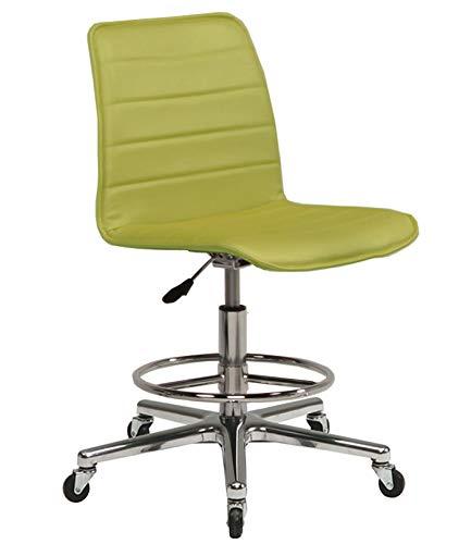 ミトノ 日本製 デスクチェア 椅子 MA-333G ハイタイプ アルミ脚 ゴムキャスター仕様 MT-1548(グリーン)  グリーン B07J1RHZ5W