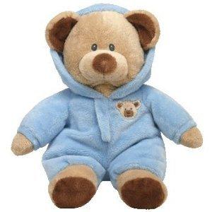 "Ty Pluffies Pj Bear 9"" Blue"