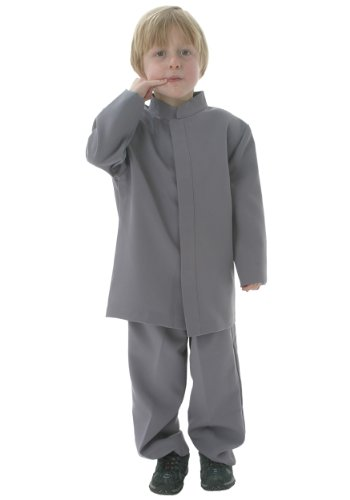 Big Boys' Mini Grey Suit Costume -