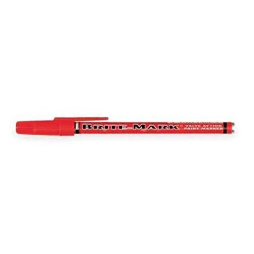 Mark Paint Brite Marker - DYKEM 8030-8412 Brite-Mark Marker, Fine Line, Red