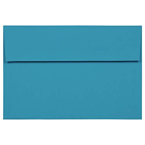 - JAM PAPER A8 Colored Invitation Envelopes - 5 1/2 x 8 1/8 - Blue Recycled - 25/Pack