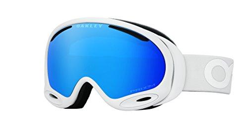 Oakley A-Frame 2.0 Goggles, Factory Pilot Whiteout, Prizm Sapphire Iridium, - Womens Oakley Ski Goggles