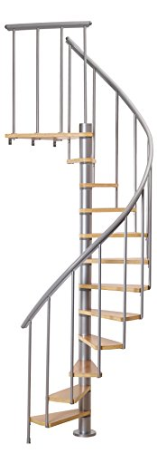 "Calgary 47"" Grey Spiral Staircase Kit"