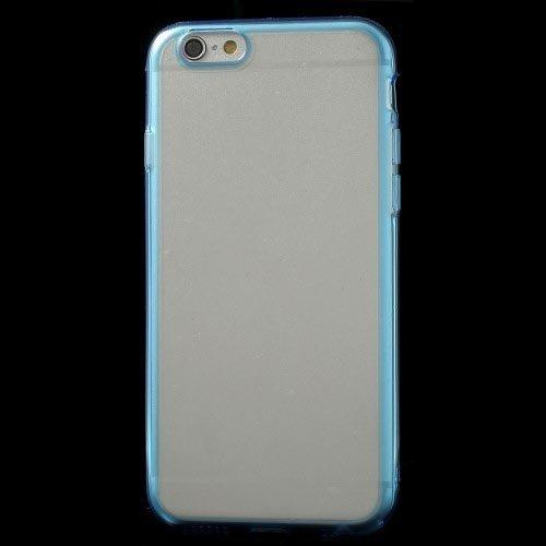 Case Étui Coque Housse pour iPhone 6s Plus 6 Plus iMercado (TPU, Transparent, Contour Bleu)