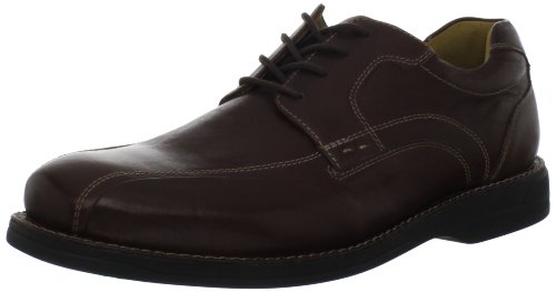 (Johnston & Murphy Men's Golson Runoff Oxford,Dark Brown Tumbled Calfskin,9 M US)