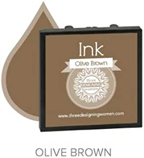 product image for Three Designing Women - Replacement Ink Pad (Olive Brown)