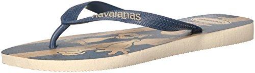 Havaianas Men's Popeye Flip Flop Sandal,Beige, 45/46 BR(13 M US Men's) -