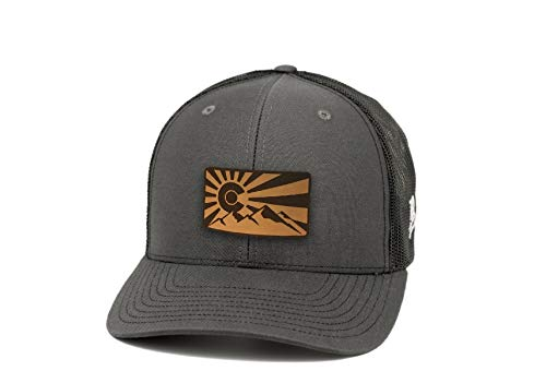Colorado Rockies Hat (Branded Bills Colorado 'The Rocky Mountain' Leather Patch Hat Curved Trucker -)